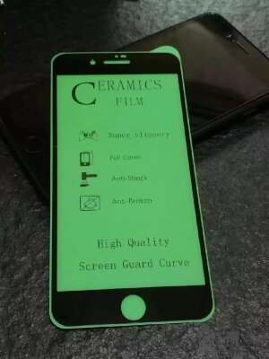 "Защитное стекло ""ceramics anti-shock film"" для Iphone 7/8 - Black"