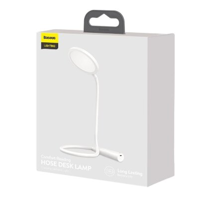 Лампа Baseus Comfort Reading Charging Uniform Light Hose Desk Lamp (DGYR-02) - White
