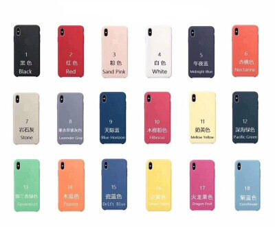 Чехол Silicone Case PREMIUM для Iphone X/XS - Nectarine (6)