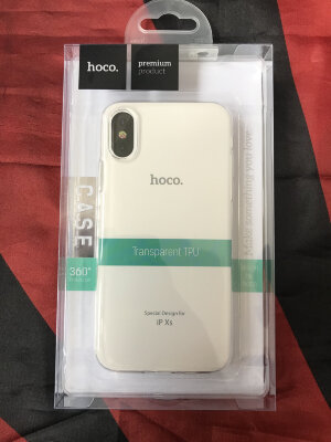Чехол hoco Light series TPU  iPhone XS - Прозрачный
