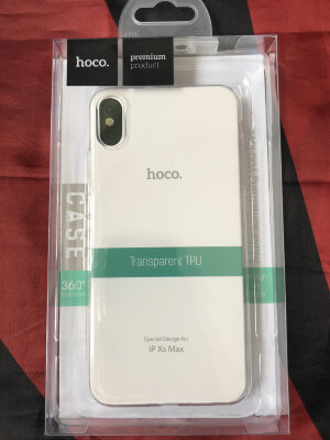 Чехол hoco Light series TPU  iPhone XS Max - Прозрачный
