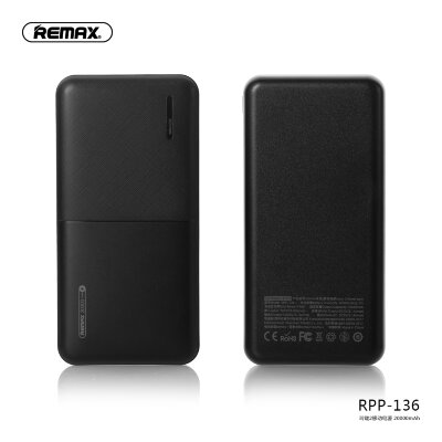 Power Bank REMAX Linon 2  RPP-136 20000mAh - Black