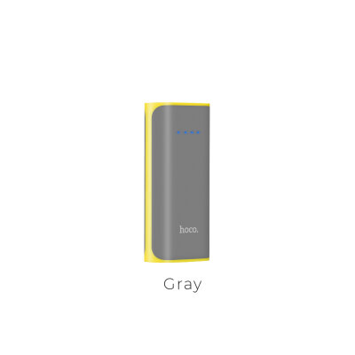 Power Bank hoco B21 5200mAh Tiny Concave - Серый