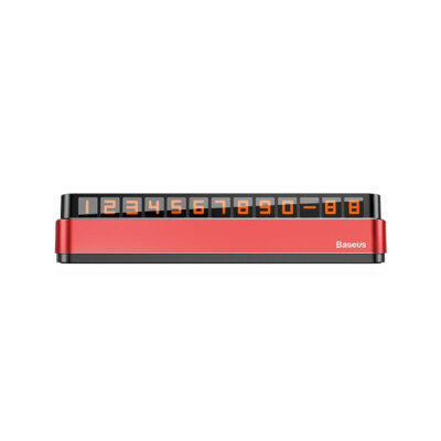 Парковочная карта Baseus Moonlight Box Series Temporary Parking Number Plate (ACNUM-B09) -  Red