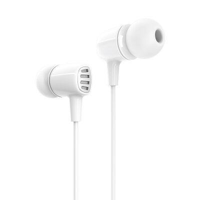Наушники Borofone BM43 Remy universal earphones with mic - White