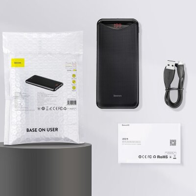 Внешний аккумулятор Baseus Gentleman  Digital Display Powerbank 10000mAh (PPLN-01) - Black