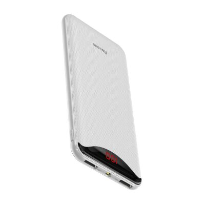 Внешний аккумулятор Baseus Gentleman Digital Display Powerbank 10000mAh (PPLN-02) - White
