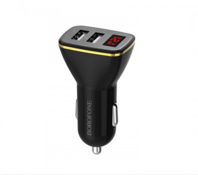 Автомобильное ЗУ Borofone In-car charger BZ11 Speed map - Black