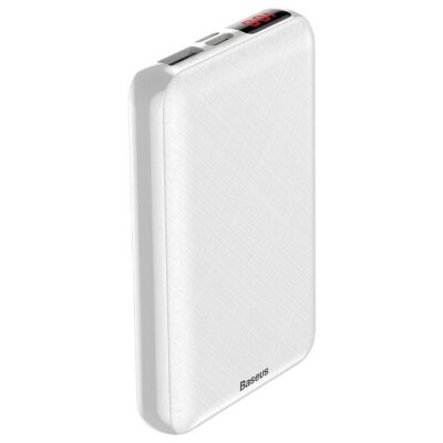 Внешник аккумулятор Baseus Mini S Digital Display Power Bank 10000mAh (PPALL-XF02) - White