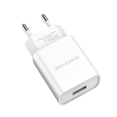 Сетевой адаптер Borofone BA20A Sharp single port charger (EU) - Белый