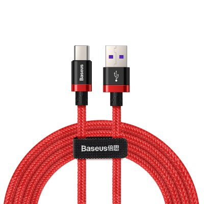 Кабель Baseus Purple Gold Red HW flash charge cable USB For Type-C 40W 2m (CATZH-B09) - Красный