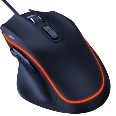 Компьютерная мышка Baseus GAMO 9 Programmable Buttons Gaming Mouse (GMGM01-01) - Black