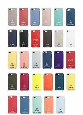 Чехол Silicone Case PREMIUM для Iphone 7/8 Plus - Black (8)