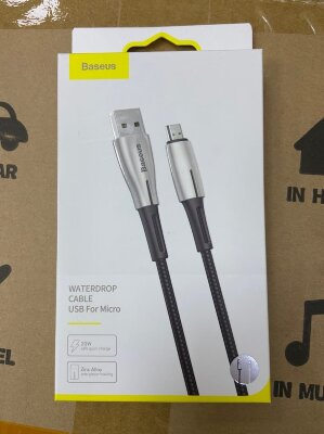 Кабель Baseus Waterdrop Cable USB For Micro 4A 1m (CAMRD-B01) - Black