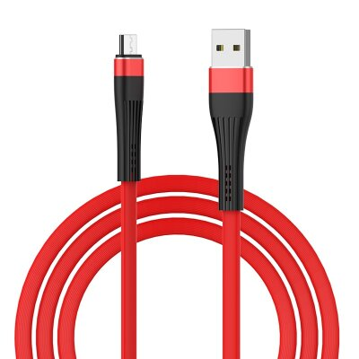 Кабель Borofone Cable USB to Micro-USB BU4 Small waistline - Red
