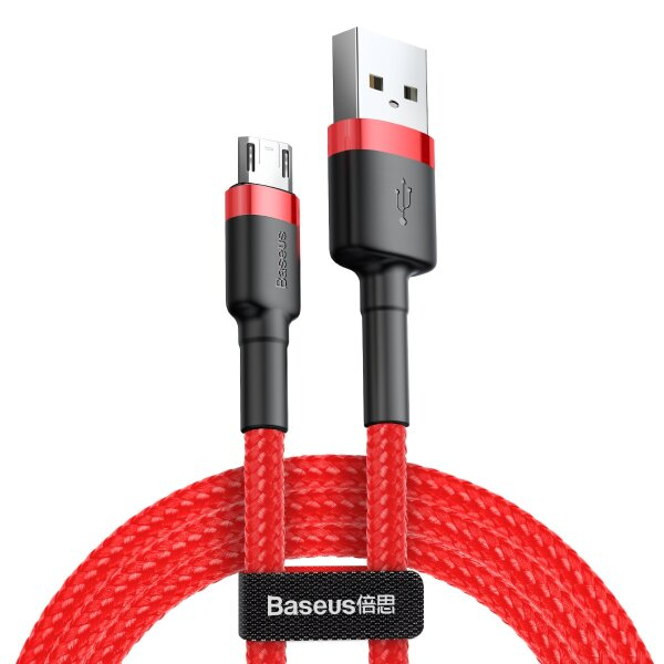 Кабель Baseus cafule Cable USB For Micro 2.4A (CAMKLF-A09)  0.5M - Red+Red