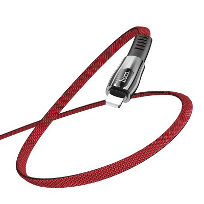 Кабель hoco U70 Splendor charging data cable for Lightning - Red