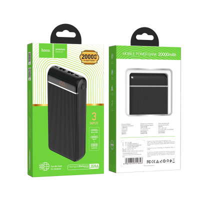 Power Bank hoco J59A Famous 20000mAh - Black
