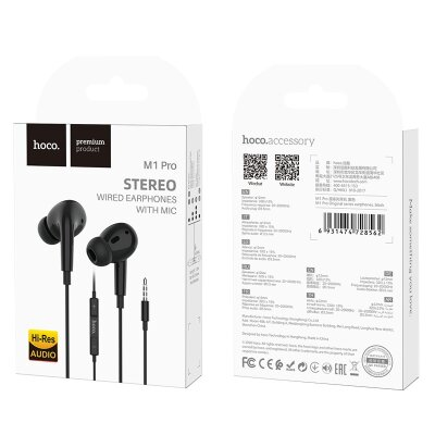 Наушники hoco M1 Pro Original series earphones - Black