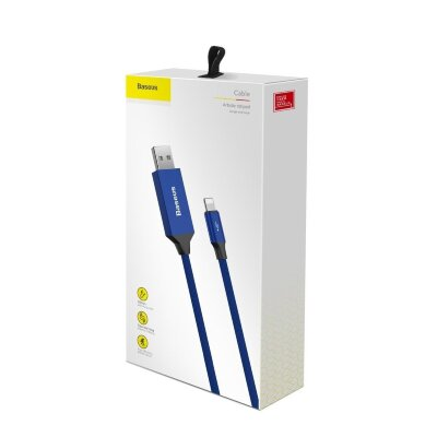 Кабель Baseus Artistic striped USB cable For iP 2A 5m (CALYW-M03) - Blue