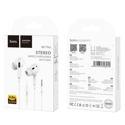 Наушники hoco M1 Pro Original series earphones - White