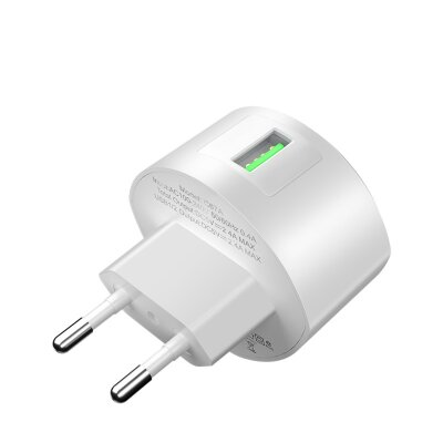Сетевой адаптер hoco C68A Shell single port QC3.0 charger (EU) - White
