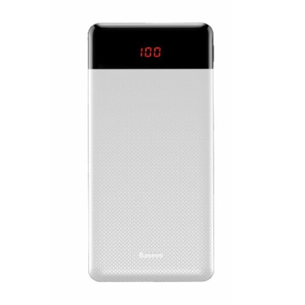 Внешний аккумулятор Baseus Mini Cu Digital Display Power Bank 10000mAh (PPALL-AKU02)  - Белый