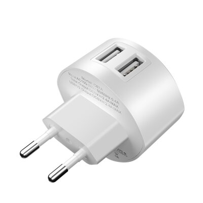 Сетевой адаптер hoco C67A Shell dual port charger (EU) - White