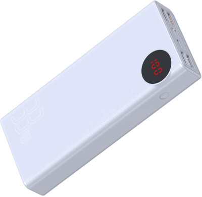Внешний аккумулятор Baseus Mulight Digital Display Quick charge PD3.0+QC3.0 Power Bank 18W 20000mAh (PPALL-MY02) - White