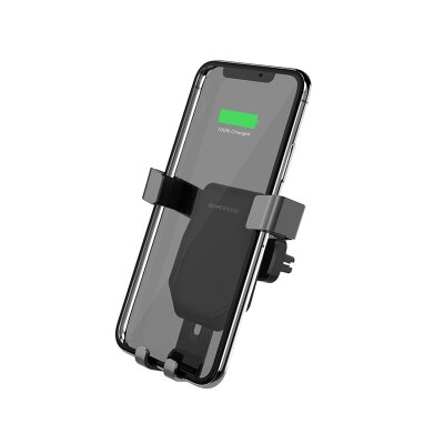 Автомобильный держатель Borofone Wireless charger BQ4 AirDock in-car - Black