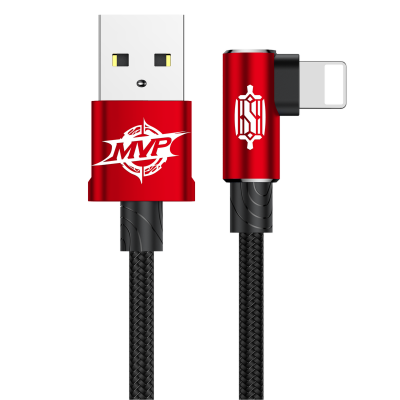 Кабель Baseus MVP Elbow Type Cable USB для IPhone 1.5A 100 см - Красный