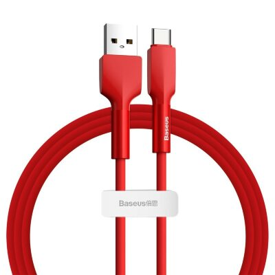 Кабель Baseus Silica gel cable USB For Type-C 2m (CATGJ-A09) - Red