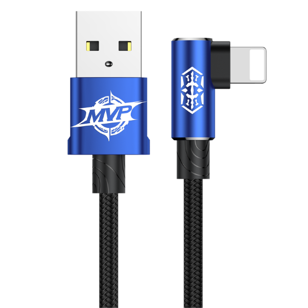 Кабель Baseus MVP Elbow Type Cable USB для IPhone 1.5A 100 см - Синий
