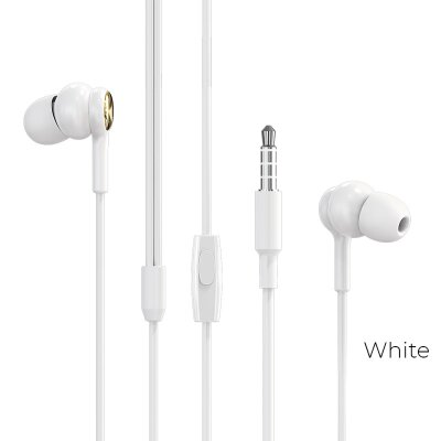 Наушники Borofone Wired earphones BM33 Complacent - White