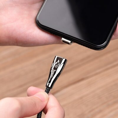 Кабель hoco U75 Blaze magnetic charging data cable for Lightning - Black