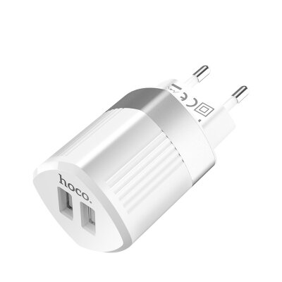 Сетевой адаптер hoco C55A Energy dual port charger (EU) - White