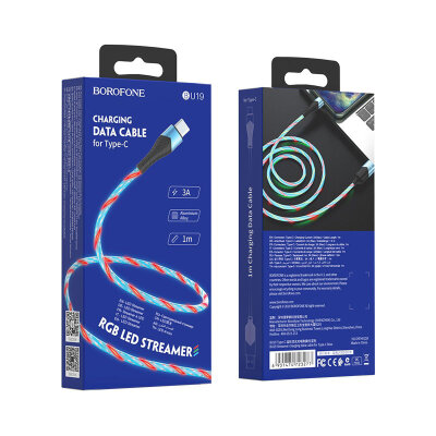 Кабель Borofone Type-C BU19 Streamer - Blue