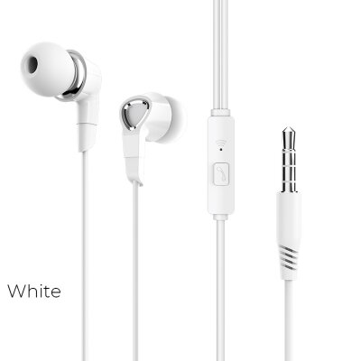 Наушники Borofone BM47 Dream universal earphones with mic - White
