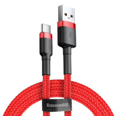 Кабель Baseus cafule Cable USB For Type-C 3A 0.5M (CATKLF-A09) - Red+Red