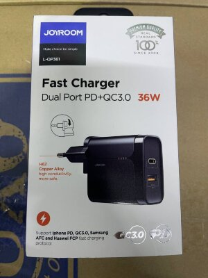 Сетевой адаптер Joyroom L-QP361 Fast Charger PD+QC 3.0 36W