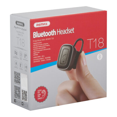 Наушники Bluetooth-гарнитура RB-T18 REMAX - Черный
