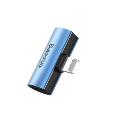 Адаптер Baseus iP Male to Dual iP Female Adapter L46 (CAL46-03) - Blue