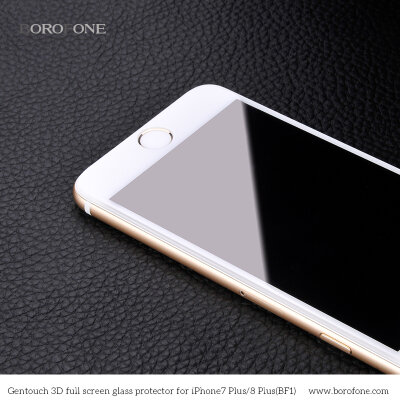 "Защитное стекло Borofone BF1 ""GenTouch"" Screen Protector for iPhone 7 Plus/8 Plus - Белое"