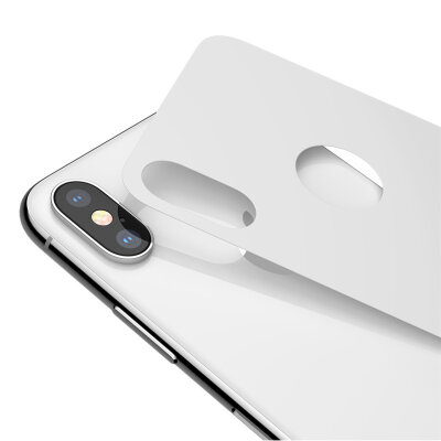 Комплект защитных стекол Baseus 0.3mm Full coverage curved tempered glass rear protector для iPhonr Xs 5.8 - Белый