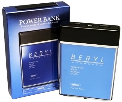 Power Bank Remax Beryl 8000mAh RPP-69 - Синий