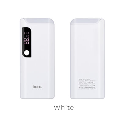 Power Bank hoco B27 15000mAh Pusi - Белый