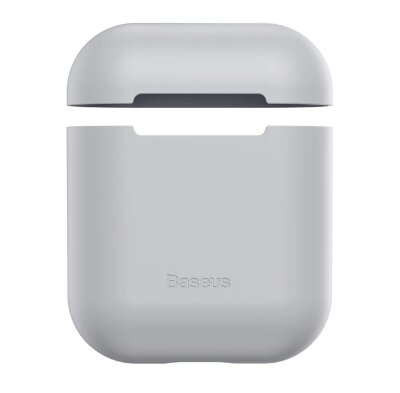 Чехол для Airpods Baseus Ultrathin Series Silica Gel Protector for Airpods 1/2 (WIAPPOD-BZ0G) - Grey