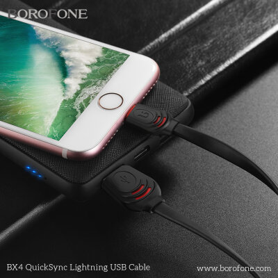 Кабель Borofone BX4 QuickSync USB Cable – Lightning - Черный